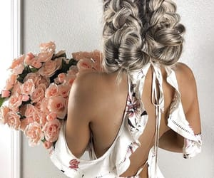 rose, hair, and fashion image