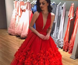 red prom dress image