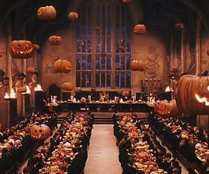 hogwarts, Halloween, and harry potter image
