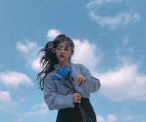 girl, korean, and sky image
