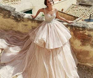 beautiful, beige, and dress image