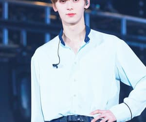 blue, cute, and wanna one image