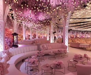 pink, wedding, and luxury image