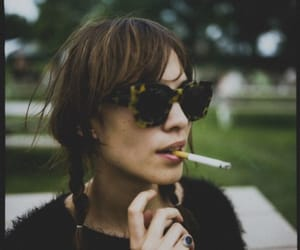 alexa chung, cigarette, and indie image