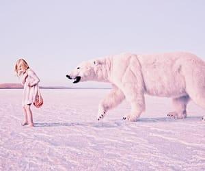 Polar Bear, kids, and pastel image