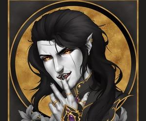 my art, vampire, and gladiolus amicitia image