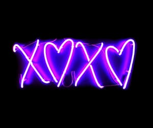purple, neon, and xoxo image