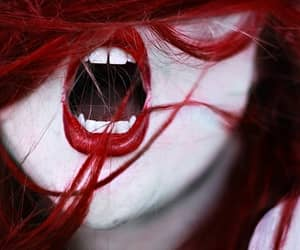 dark, photography, and fangs image