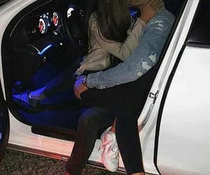 car, couple, and goal image