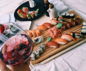 food, tasty, and sushi image