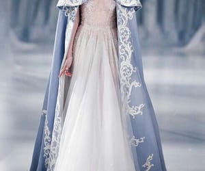 dress, blue, and winter image