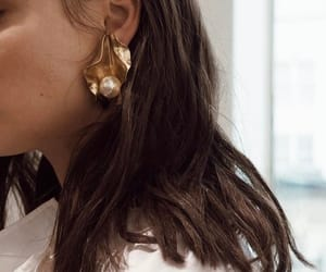 fashion, earrings, and style image