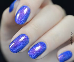 beauty, blue nails, and blue image