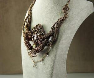 etsy, rhinestone necklace, and octopus necklace image