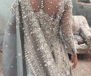 dress, silver, and indian image