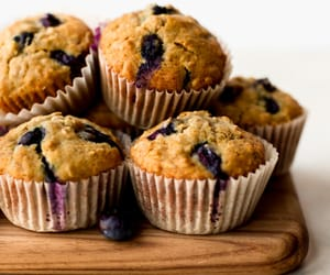blueberry, food, and sweets image