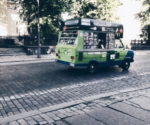 ice cream, ice cream truck, and street image