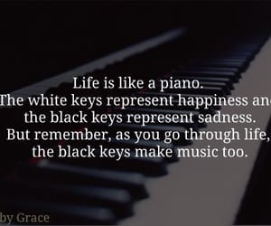 life, piano, and quotes image