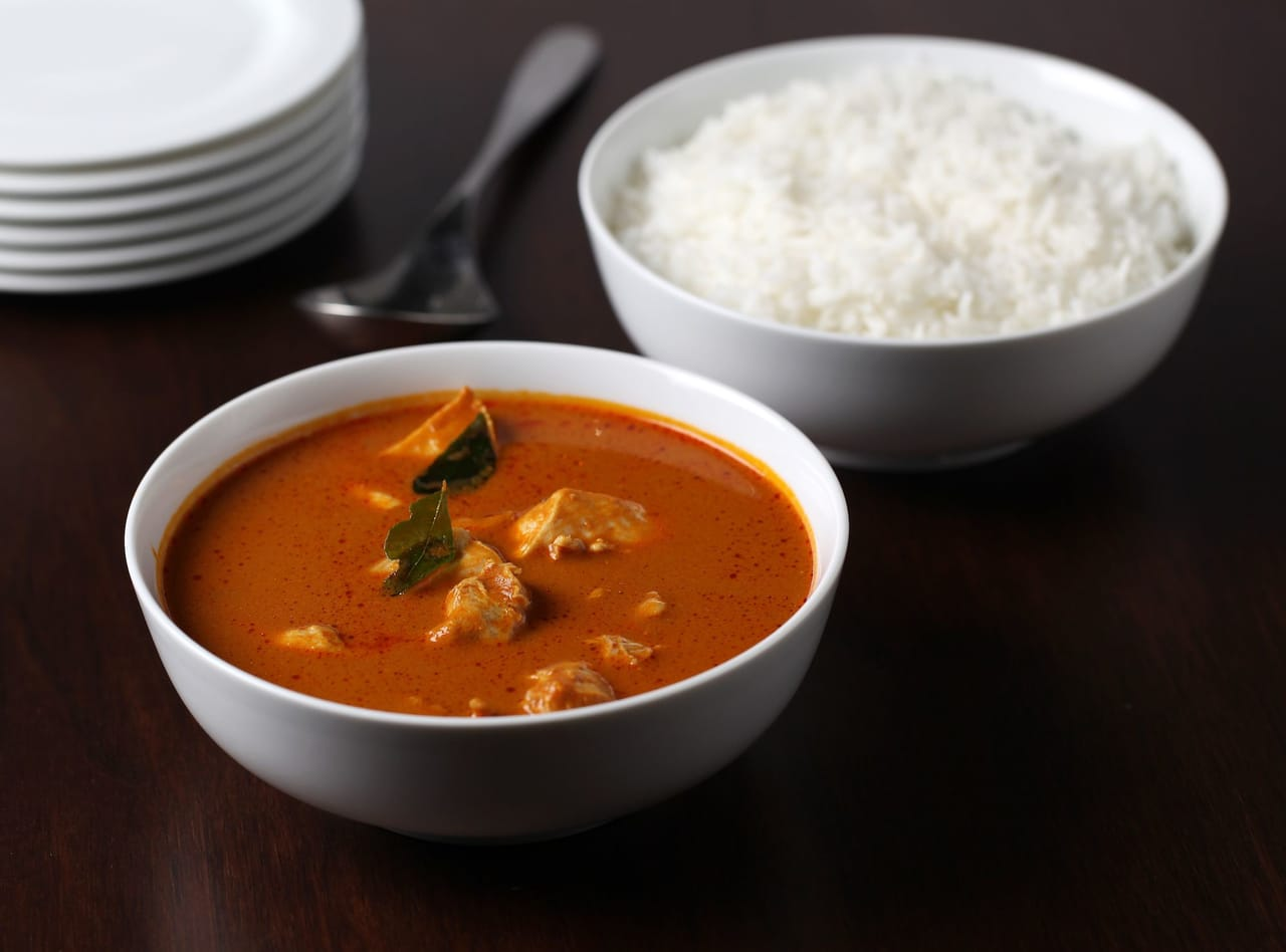 Chicken, curry, and sidedish image
