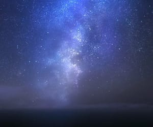 anime, blue, and galaxy image