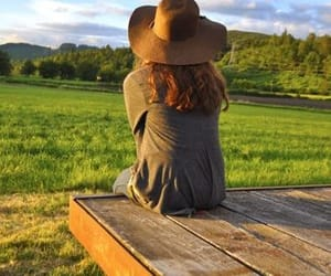 country, countryside, and Cowgirl image