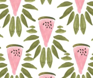 background, watermelon, and fruit image