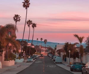 sunset, california, and city image