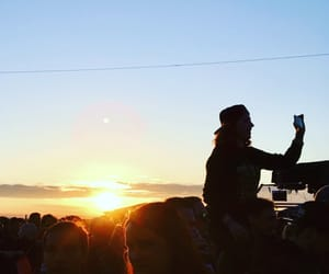 festival, girl, and sunset image