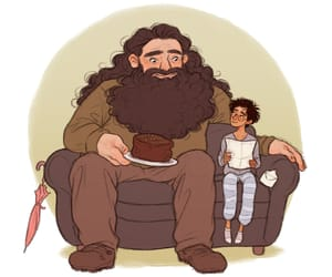 hagrid, art, and harry potter image