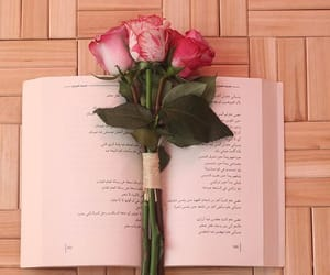 arab, book, and flowers image