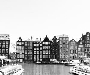 amsterdam, black and white, and city image