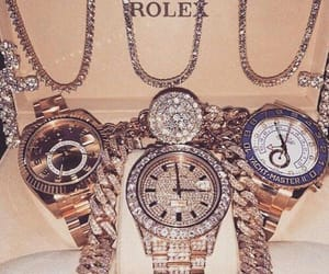 luxury, rolex, and diamond image