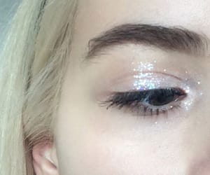 girl, pale, and glitter image