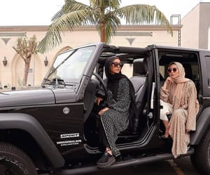 arabic, car, and hijab image