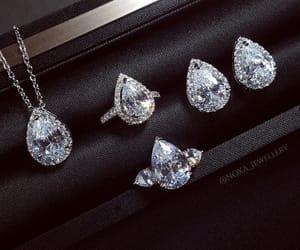 diamonds, earrings, and luxury image