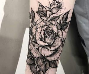 rose, tattoo, and art image