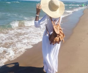 beach, fashion, and hat image
