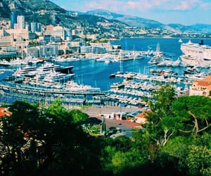 blue, monaco, and boats image