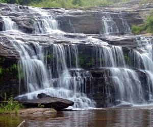 photography, nature, and waterfall image
