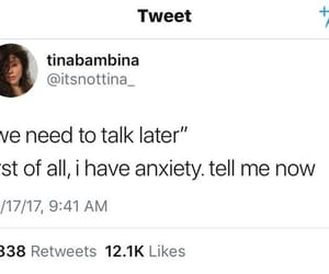 anxiety, relatable, and funny image