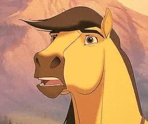 animal, scared, and stallion image
