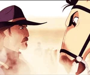 animation, upset, and stallion of the cimarron image