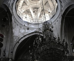 architecture, chandelier, and church image