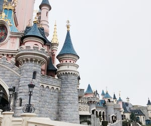 castle, travel, and disney image