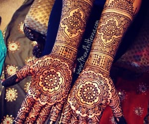 bride, girly, and henna image
