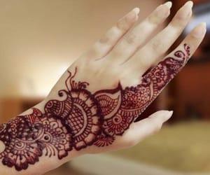 eid mubarak, tattoo, and chand raat image