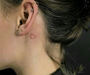 tattoo, heart, and girl image