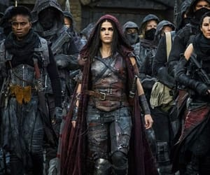 marie avgeropoulos, eliza taylor, and octavia image