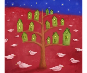 birds and Houses image