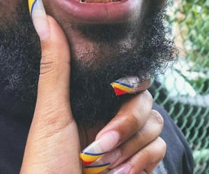 nails, couple, and beard image